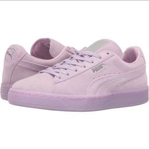 e086d4eb07008 PUMA Classic Pastel Baby Purple Suede Sneakers
